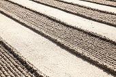 Lines In Zen Sand Garden