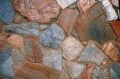 stock photo of fieldstone-wall  - an old stone wall details - JPG