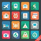 picture of flat-bed  - Traveling and transport Flat icons for Web and Mobile Applications - JPG