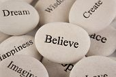 stock photo of spiritual  - Inspirational stones - JPG
