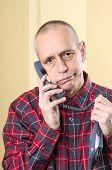 Annoyed Man On Phone