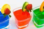 Four Colorful Mixed Drinks