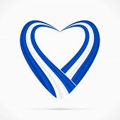 Blue white blue heart