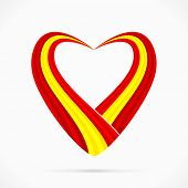 Red yellow red heart