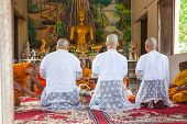 Chaiyaphum, Thailand - May 13 : The Senior Monk   Preaching For New Monk In The Newly Buddhist Ordin