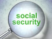 Privacy concept: Social Security with optical glass