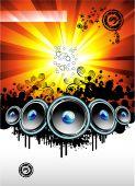 Disco Music Event Background