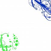 Deep Green Blue Swirls Background