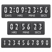 picture of countdown timer  - Countdown clock timer mechanical digits board panel indicator emblem vector illustration - JPG