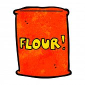 cartoon bag of flour