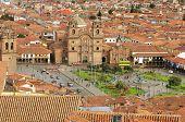 The central square in Cuzco.