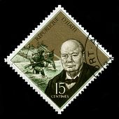 Vintage Haiti Postage Stamp With Portrait Of Winston Churchill