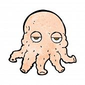 cartoon mutant alien squid face