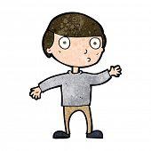 cartoon waving man