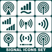 Signal icons set