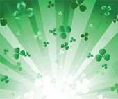 Radiant Green Background With Clover