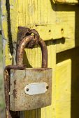 Rusty lock with latch