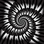 Design Monochrome Helix Movement Illusion Background