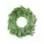 Christmas Wreath On White