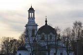 Постер, плакат: Church Of St Alexander Nevsky At Sunset