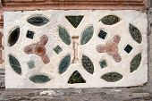 picture of genova  - Detail of marble inlay on the facade of the cathedral of St - JPG