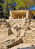 stock photo of minos  - Walking among the ruins of Knossos Palace is the best way to acquainted with greek mythology and minoan culture Crete Greece - JPG
