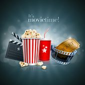 image of clapper board  - Popcorn box - JPG