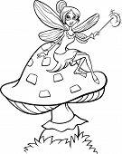 Elf Fairy Fantasy Cartoon Coloring Page