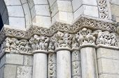 Close up of Columns in Fontevraud Abbey - Loire Valley France