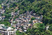Favela near Copacabana in Rio de Janeiro