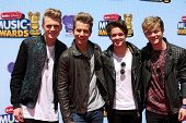 LOS ANGELES - APR 26:  The Vamps at the 2014 Radio Disney Music Awards at Nokia Theater on April 26,