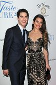 LOS ANGELES - APR 25:  Darren Criss, Lea Michele at the 19th Annual