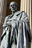 Benjamin Disraeli Statue Outside St. George's Hall In Liverpool