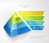 stock photo of pyramid  - pyramid infographic design template - JPG