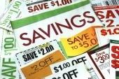 picture of save money  - Cut up some coupons to save money - JPG