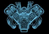 picture of piston-rod  - Car engine x - JPG