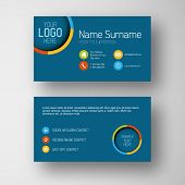 foto of placeholder  - Modern simple blue  business card template with some placeholder - JPG