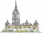 Moscow Stalin s building, Hotel Ukraine, Sketch collection