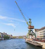 Dockside Crane In Zurich