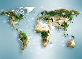 Best Internet Concept of global business from concepts series. Map earth. (Elements of this image fu
