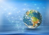 Best Internet Concept of global business from concepts series. Planet earth. (Elements of this image furnished by NASA)