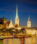 Zurich, Switzerland, Summertime Evening