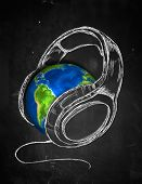Earth Headphone music Background