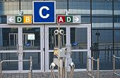 Minsk, Belarus - April, 26: Security Check-Point of One of The Entrances of Minsk-Arena
