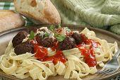 Vegetarian Meatball Tagliatelli