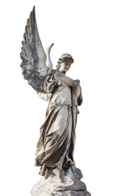 pic of sad christmas  - Beautiful old statue of the angel - JPG
