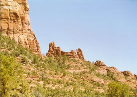 picture of snoopy  - Rock formation uncannily like Snoopy on his back - JPG
