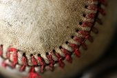 macro closeup of baseball