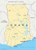 Ghana Political Map