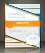 Vector Layout Business Flyer, Magazine Cover, Template Or Corporate Banner Design